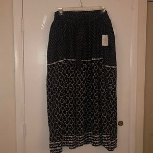 Side Tie Maxi Skirt